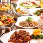 【青蓮】特製の無添加調味料を使用した「健康中華料理」といわれる料理がお店の自慢。がっつり系のボリュームメニューから、女性に嬉しいヘルシーメニューまでリーズナブルなお値段で楽しめるのが魅力です。
