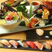 木の温もりおしゃれな店内で寿司女子会はいかがですか。お寿司以外にも、明太うどんにロブスター料理と様々な料理でおもてなし。気の合う仲間と心ゆくまで女子会をお楽しみください。