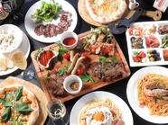 【当店1番人気】『イタリアン食べ飲み放題150分コース』(事前予約:500円オフ)