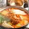 程よい辛さとコクのある絶品スープでいただく『ホルモン鍋』
