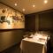 落ち着いた雰囲気の完全個室は、少人数から大人数まで対応可能