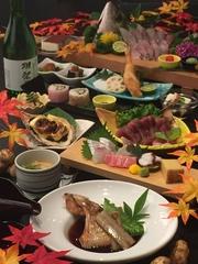◆宴会を特注の大皿盛りで華やかに ◆ふぐ刺し中皿盛り(2~3人前)4,500円 大皿盛り(4~6人前)9,000円