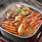 牡蠣と蟹のガンガン焼き食べ放題