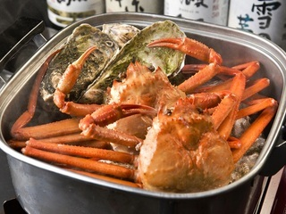 衝撃コスパ♪牡蠣と蟹のガンガン焼き食べ放題