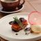 逸品デザート『りんごとイチジクのタタン ローズマリーの香り』※仕入れにより料理内容に変更があります。