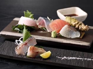 季節折々で変わる旬を取り入れ、新鮮な「魚介」をつかった逸品