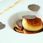 ラット茸のニョッキ 鴨フォアグラとセップ茸のソテー トリュフ添え ペリグーソース