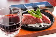 A5ランクの上質な牛肉を、シンプルにいただく『黒毛和牛ステーキ』