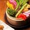 季節の野菜の朝採れサラダ
