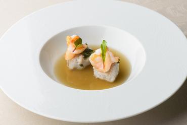 金沢フレンチで味わう生パスタ『加賀れんこんのニョッキ』※コースの一品。季節により内容が変わります