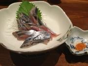 秋になりさんまの季節になりました。お刺身にちょうど良い脂加減で日本酒にぴったりです