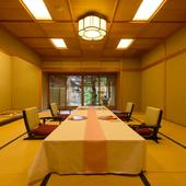 落ち着いた和室は、大切なゲストを迎える接待にもぴったり