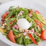 〆サバとたっぷり野菜の薬味と一緒にどうぞ。沢庵と甘酢生姜がいいアクセントになっています。