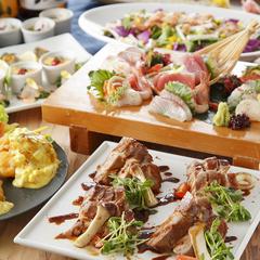 特選豚のステーキと海鮮を使用した『旬の味覚(逸品)コース』