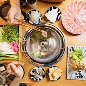鹿児島県産の「茶美豚」を自家製のつけだれでいただく『豚しゃぶしゃぶ』