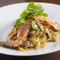 ボルチーニ茸と海老のパスタ 手打ち麺タリアテッレ