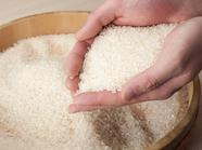 強くこだわり、寿司に合うお米を店主自らが選択『熊本県産米』