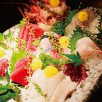 市場から直送されてくる「魚介類」の鮮度は、お墨付き