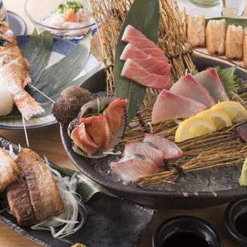 鮮魚とアグー豚の食べつくしコース