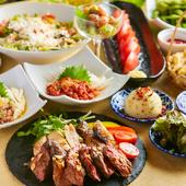 当店自慢肉料理が満喫できる飲み放題付きコース2980円~ご用意!