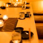 《接待に最適な上質空間》扉付完全個室で季節の創作和食を堪能