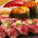 肉寿司食べ比べ (各種)