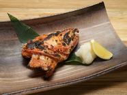 高級魚「吉次」の旨みの塊、かぶとをシンプルに塩焼きで