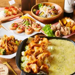 人気のチーズタッカルビなど7品も付いて1980円!肉×チーズ×野菜×スイーツ全て楽しめるランチコースです