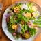 旬のおいしい野菜が10~12種も集う『有機野菜の彩りサラダ』