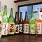 珍しい焼酎や季節の日本酒が充実のラインナップ
