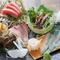 新鮮な魚介類を堪能できる『お刺身の盛り合わせ』