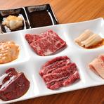 『焼膳』『鍋膳』2種類のコースをご用意。メインはもちろん、小鉢からお造り、煮物まで「漢方和牛」尽くしの贅沢なフルコースとなっております。
