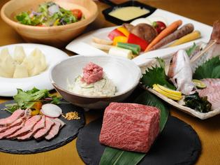 兵庫県産の肉、魚、野菜を使った『地産地消コース』をご用意