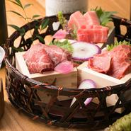 伝統和食ベースの料理が特徴。魚は本鮪にこだわり、和牛・豚・鶏などお肉もさっぱりといただけます。