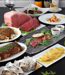 *地元の食材を中心とした、人気のお好み焼きか五エ門巻きが入ったコースです。