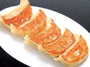 旬の食材満載の食べごたえある『焼き餃子(6個)』
