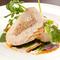 『大山鶏胸肉とナッツ&チーズのバロティーヌ 2種のソース』