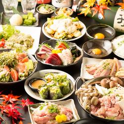 旬の食材をお楽しみ頂けるご宴会コースです☆ 日~木は3時間、金土祝前日前は2時間飲み放題付きのコース◎