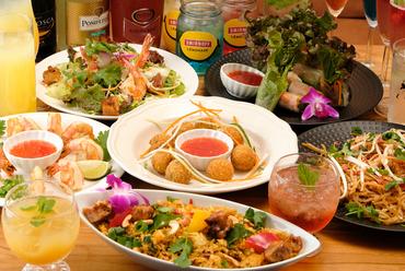 絶対お得!本格的なアジアン料理が楽しめる飲み放題コース