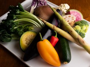 新鮮でおいしい旬の食材をふんだんに使用