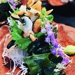 本日の一品料理がございますが、魚料理、豆腐料理、季節の小鉢、乾物等 季節によって、楽しんでください。