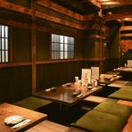 広々とした小上がり席もあり、気軽に飲み会や会社のパーティーなどに利用できます。飲み放題付きのコース料理や宴会プランが用意されているのも嬉しいところ。最大24名までの宴会が可能です。