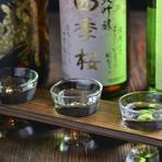 色々な日本酒を飲みたいお客様のご要望にお答えして 「日本酒飲み比べ」セットを3種類ご用意しております 1:栃木が誇る地酒飲みくらべセット 2:県外の美味しい名手飲み比べセット 3:常温で飲んでほしい銘酒飲み比べセット  ※1・2・3いずれも500円(税別)でのご提供
