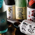 料理に合わせて厳選された日本酒が充実のラインナップ