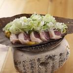 陶板ほう葉味噌焼き(鴨)