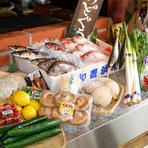 舞阪漁港から直送で届く、新鮮な魚介類を使用