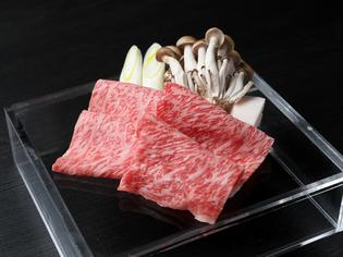 美味しい素材が満載の『飛騨牛焼きすき焼き』