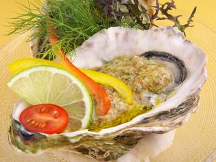 能登島の美味『真牡蠣のカクテル仕立て 粒マスタードのソース』