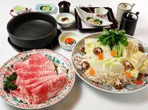 割下には和三盆を使用『神戸牛 すき焼きコース』