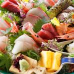 日本全国から探し求めた旬の食材をご用意しております